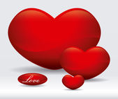 Disegno del cuore — Vettoriale Stock