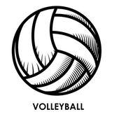 Volleyball design — Stock Vector