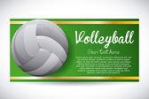 Conception de volley-ball — Vecteur