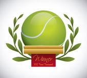 Progettazione di campi da tennis — Vettoriale Stock