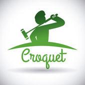 Croquet design — Stock Vector
