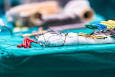 Surgical instruments for open heart surgery — Stockfoto