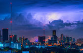 Thor coming in city — Stockfoto