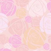 Rosa sobre fondo rosa — Vector de stock