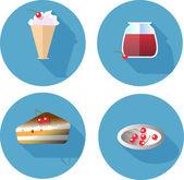 Design plano conjunto de ícones. elementos de modelo para web e aplicações móveis — Vetor de Stock