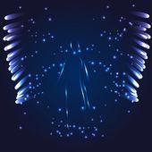 Luminous Angel on a dark background — Stock Vector