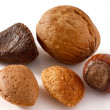 Five mixed nut on white — Stock Photo #46504585