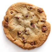 Large light chocolate chip cookie — Stock Photo