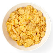 Bowl of cornflakes — Stock Photo