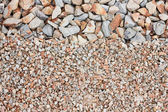 Mixed gravel freshly laid shot from above — Stock Photo