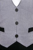 Waiters old fashioned black and white checkered vest. — Stock Photo