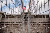 布鲁克林桥电缆 — 图库照片