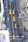 Manhattan traffic areal view — Stock Photo