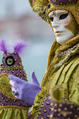 Mask at venice carnival — Stock Photo