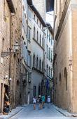 Classic tourist street — Stock Photo