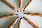 Circle of pencil drawing — Stock Photo