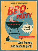 BBQ party poster — Stock Vector