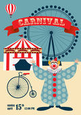 Vintage carnival or circus poster — Stock Vector
