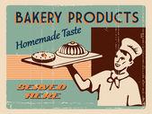 Bakery design template — Vetor de Stock