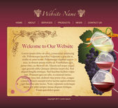 Winery website template — Stock Vector