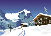 Snow swiss Alps — Stock Vector