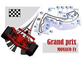 Автомобиль красный гонка Формула 1 — Cтоковый вектор