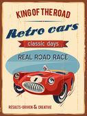 RETRO RACE CAR — Stock Vector