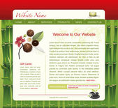 SPA WEBSITE TEMPLATE — Stock Vector