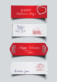 Set of valentines banners — Stock Vector