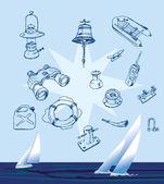 Boat equipment — Stock Vector