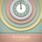 Vintage Clock Background — Stock Vector