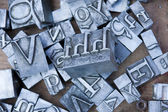 Letter pieces — Stock Photo