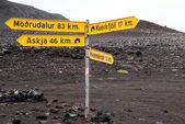 Signpost in Iceland — Stock Photo