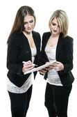 Two women planning — Stock Photo