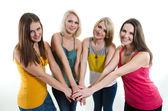 Four beautiful young girls — Stock Photo