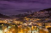 Cityscape at night — Stock Photo