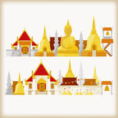 Temple in thailand — Stock Vector