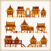 Villages — Stock Vector