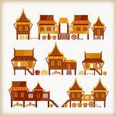 Villages — Stock Vector