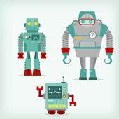 Three robots — Stock Vector