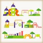 Parque infantil — Vetorial Stock