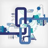 Geschäftsnetzwerk — Stockvektor