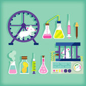 Laboratory test — Stock Vector
