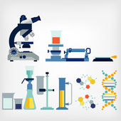 Set of laboratory — Stockvektor