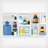 Medicine cabinet — Stock Vector