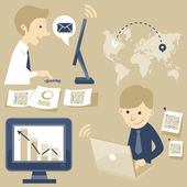 Business team — Cтоковый вектор