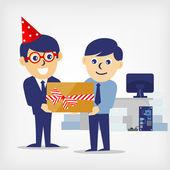 Giving a Gift — Stock Vector
