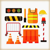 Traffic safety equipment — Stock Vector