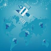 Kommunikationssatelliten — Stockvektor