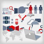 Uomini d'affari per l'occupazione — Vettoriale Stock